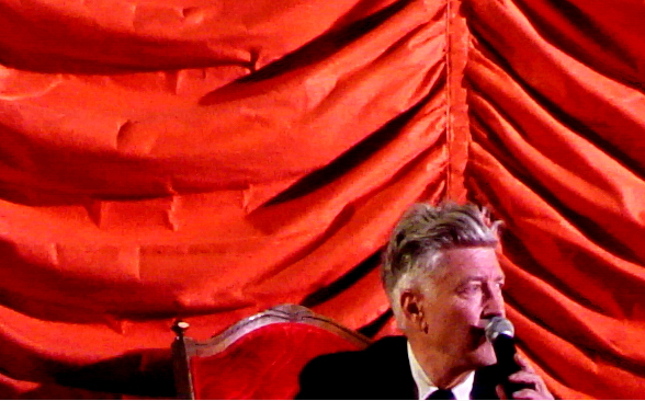 David lynch with curtains