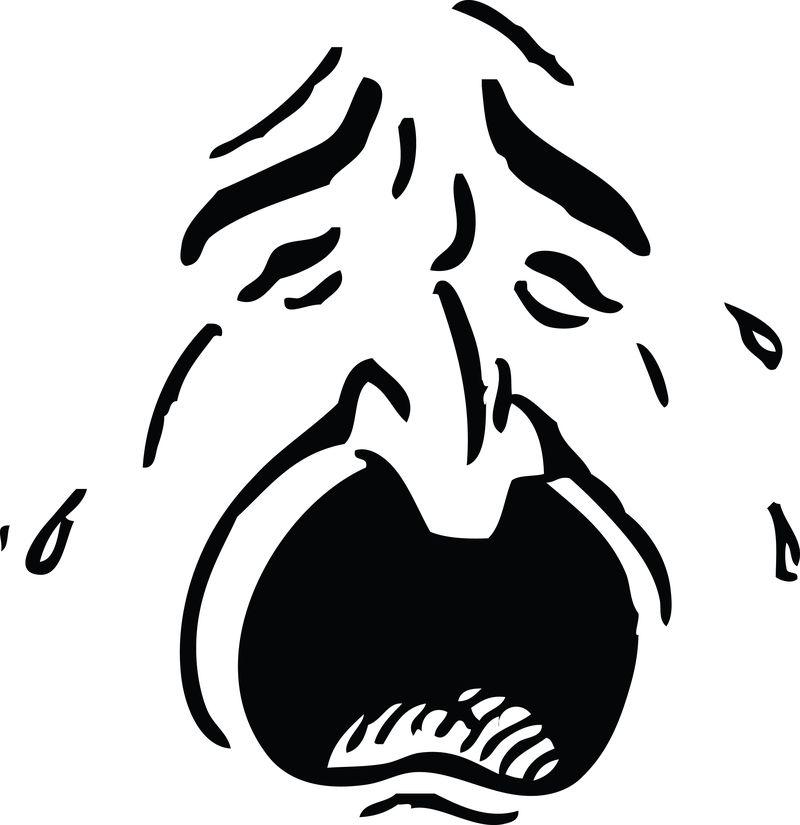 141-Crying-Man-Free-Retro-Clipart-Illustration