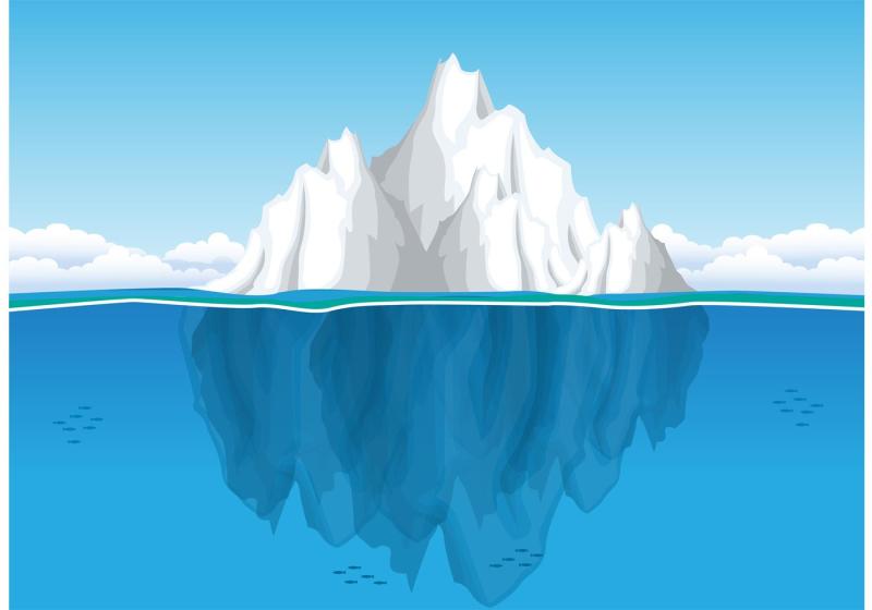 Iceberg-underwater-vector